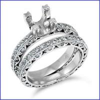 Gregorio Platinum Engagement Diamond Band & Ring H-849