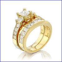 Gregorio 18K Yellow Diamond Engagement Ring & Band OMI-D-2