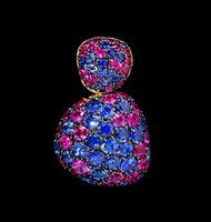 Mousson Atelier Riviera Gold Sapphire Pendant P0040-0/3