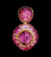 Mousson Atelier Riviera Gold Pink Tourmaline Pendant P0074-0/2