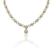 9.49 Ct Fancy Diamond Necklace