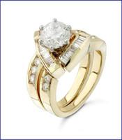Gregorio 18K Yellow Diamond Engagement Ring R-115
