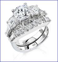 Gregorio 18K WG Diamond Engagement Ring & Band R-221