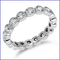 Gregorio 18K White Engagement Diamond Band R-289