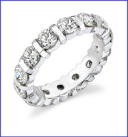 Gregorio 18K White Eternity Band R-326