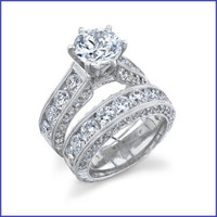 Gregorio 18K WG Diamond Engagement Ring Set R-389