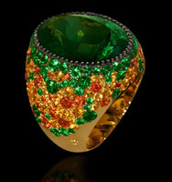 Mousson Atelier Riviera Gold Green Tourmaline Ring R0040-2/4