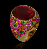 Mousson Atelier Riviera Gold Rubellite Tourmaline Ring R0040-2/7