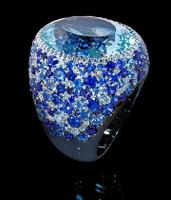 Mousson Atelier Riviera Gold Aquamarine Ring R0040-2/9