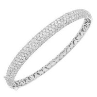 5.25ct 14k W/g Diamond Bangle