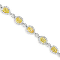15.89ct Fancy Yellow Diamond Bracelet