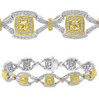 3.85 Carat Fancy Diamond Bracelet
