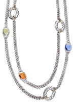 18Kt & Silver Double Necklace