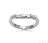 Ziva Curved Baguette Diamond Band