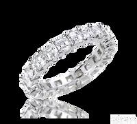 Ziva Asscher Cut Eternity Ring