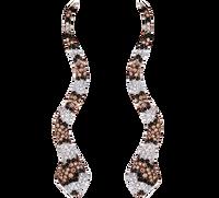 Van Der Bauwede 18K WG Sapphire & Diamond Snake Earrings 00163