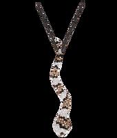 Van Der Bauwede 18K Pink Gold Sapphire & Diamond Snake Pendant 00196