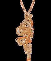 Van Der Bauwede 18K Pink Gold Imperial Dragon Sapphire & Diamond Pendant 00576