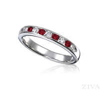 Ziva Ruby & Diamond Wedding Band
