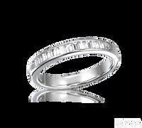 Ziva Baguette Diamond Wedding Band