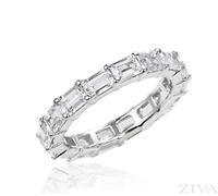 Ziva Emerald Cut Eternity Ring