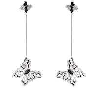 Van Der Bauwede 18K WG Diamond Butterfly Earrings (Small) 00484