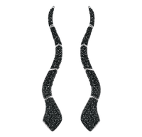 Van Der Bauwede 18k WG & Black Rhodium Sapphire Snake Earrings 00351