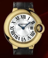 Cartier Ballon Bleu Small (YG/Silver/ Leather)