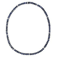 1.11ct Diamond & 37.49ct Ceylon Sapphire Necklace