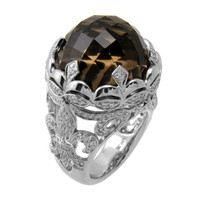 Smoky Topaz & 1.00 ct Diamond Ring