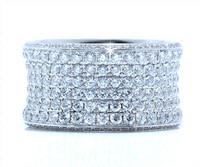 3.56 cttw Diamond Ring In 18k White Gold