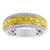 18K White & Yellow Gold Diamond Ring KR521WY-18K