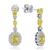 18K White & Yellow Gold Diamond Earrings KE2171WY-18K