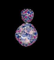 Mousson Atelier Riviera Gold Lavender Quartz & Sapphire Pendant P0072-0/4