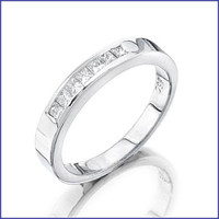Gregorio Platinum Ladies Engagement Band CH-103