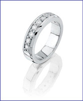 Gregorio Platinum Diamond Wedding Band R-7275B