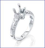 Gregorio Platinum Diamond Engagement Ring R-6383