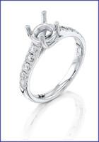Gregorio Platinum Diamond Engagement Ring R-5609