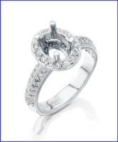Gregorio Platinum Diamond Engagement Ring R-5522