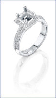Gregorio Platinum Diamond Engagement Ring R-5517