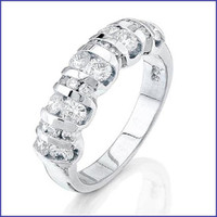 Gregorio Platinum Diamond Band H-1032