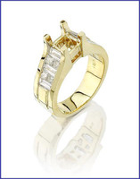 Gregorio 18K Yellow Gold Diamond Engagement Ring R-6893