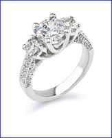 Gregorio 18K White Ring R-336