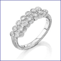 Gregorio 18K White Ladies Diamond Ring R-0047