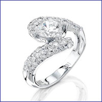 Gregorio 18K WG Ladies Diamond Ring R-5740