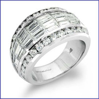Gregorio 18K WG Diamond Wedding Band R-172