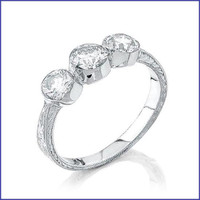 Gregorio 18K WG Diamond Ring R-0066