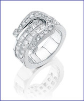 Gregorio 18K WG Diamond Ladies Ring R-7169