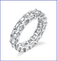 Gregorio 18K WG Diamond Eternity Band R-403
