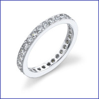 Gregorio 18K WG Diamond Eternity Band R-199